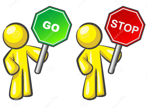 Stop go sign